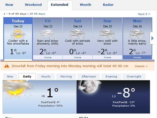 Myoko snow forecast