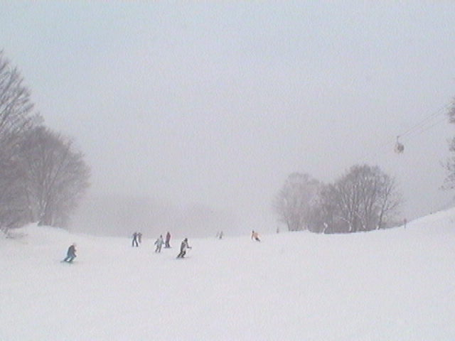 Myoko Snow Report 29 December 2014 - Fog